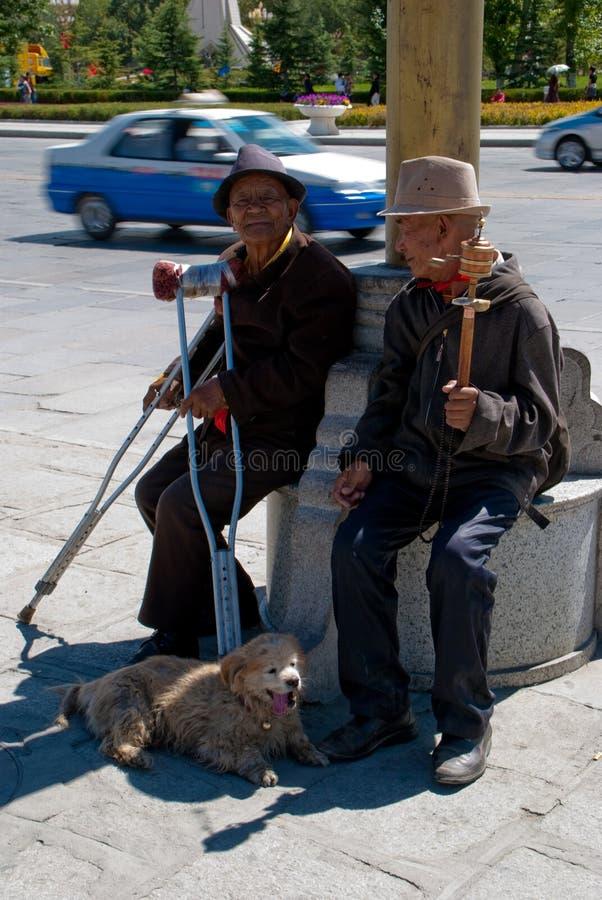 Vicissitudes de durée pour les personnes âgées images libres de droits