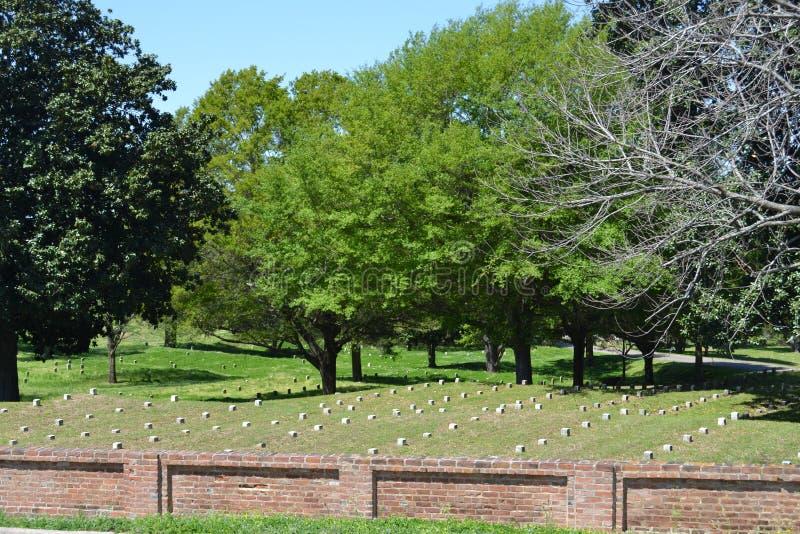 Vicksburg Nationale Begraafplaats stock foto's