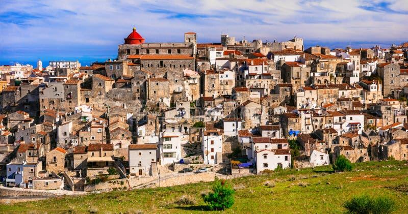 Vico del Gargano - un du borgo de villages le plus beau de photo libre de droits