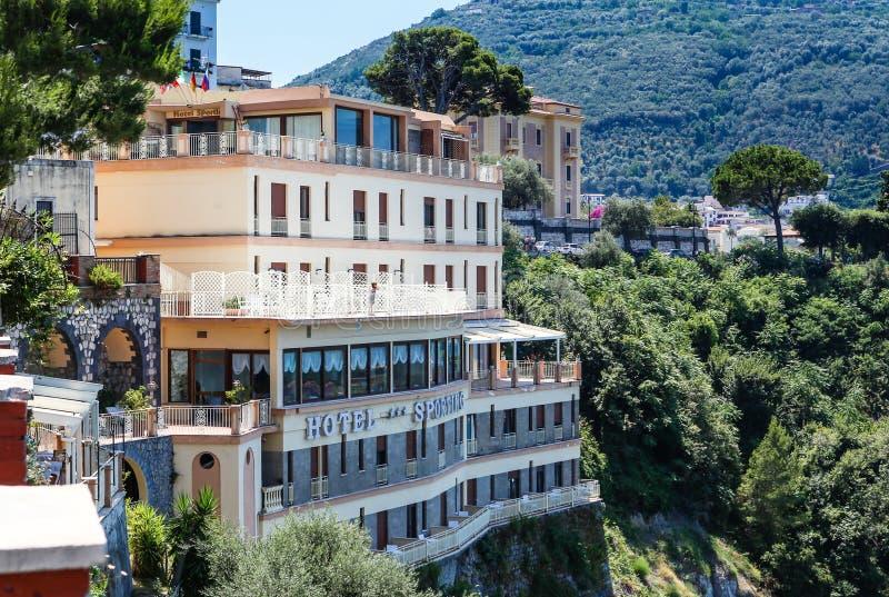 Vico Equense Italy Ostentar do hotel imagem de stock royalty free