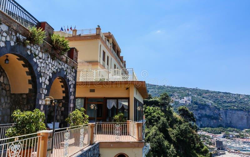 Vico Equense Italy Ostentar do hotel fotografia de stock royalty free