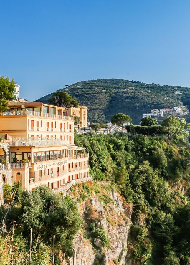 Vico Equense Italy Ostentar do hotel fotos de stock