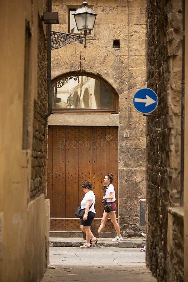 Vicoli antichi di Firenze fotografia stock