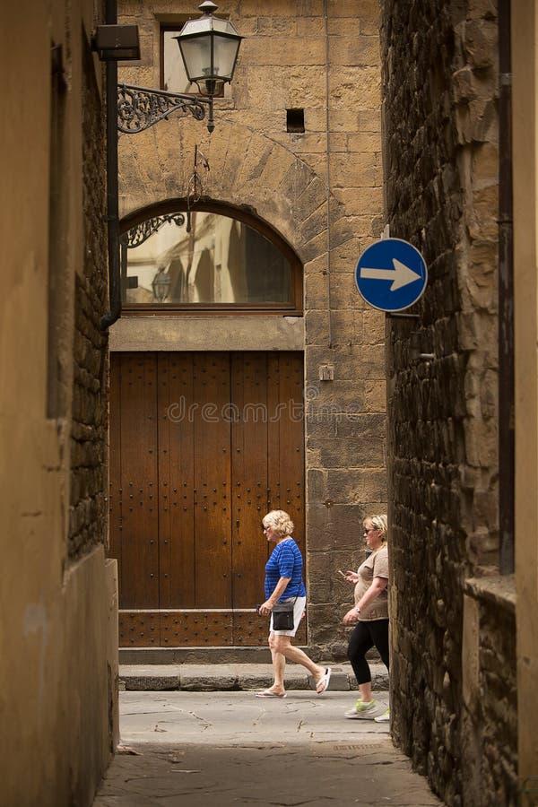 Vicoli antichi di Firenze fotografia stock libera da diritti