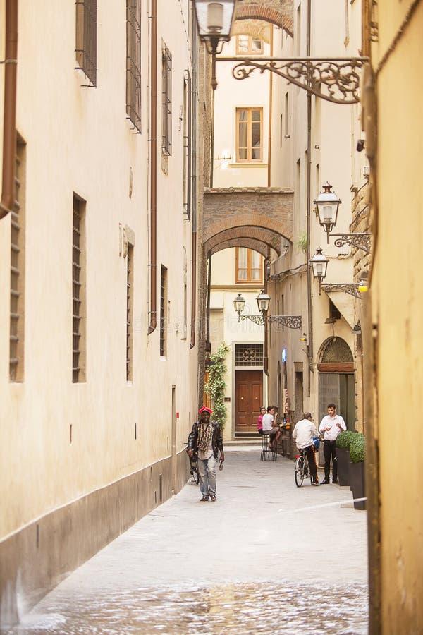 Vicoli antichi di Firenze fotografie stock