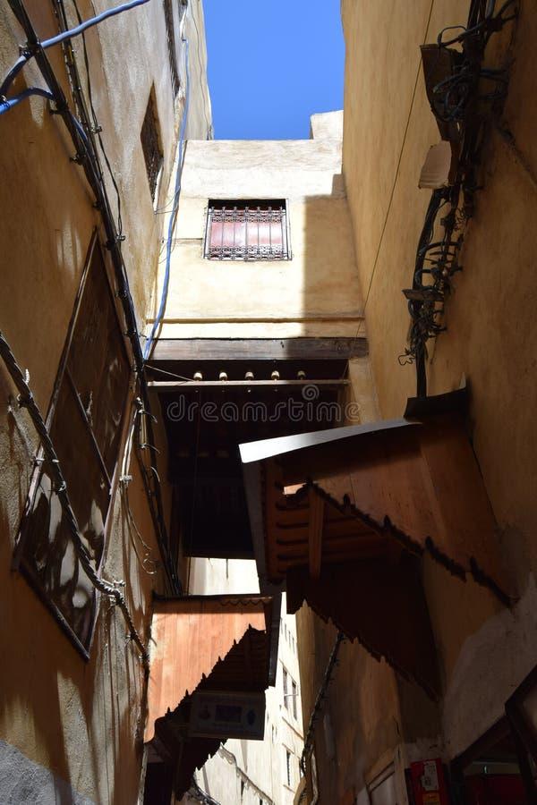 Vicoli del mercato di Fes, Marocco immagini stock