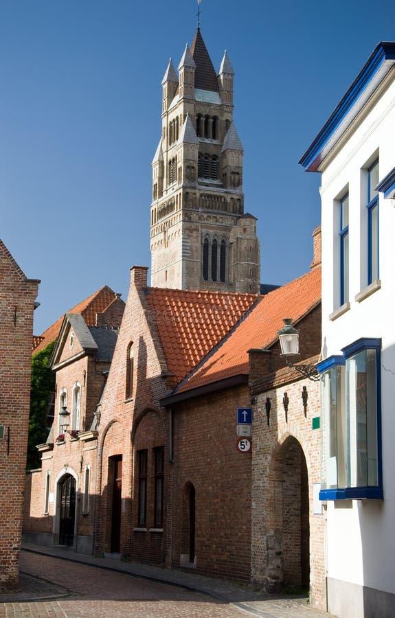 Vicolo a Bruges, Belgio immagine stock libera da diritti