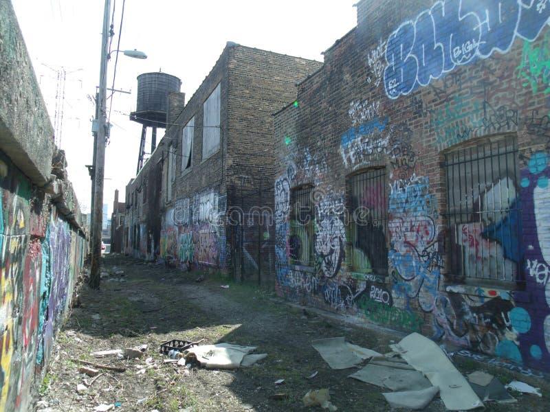 Vicolo dei graffiti immagine stock