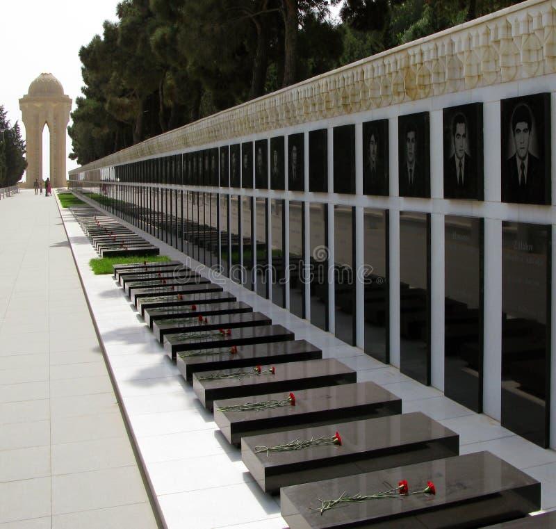 Vicolo dei martiri a Bacu immagine stock