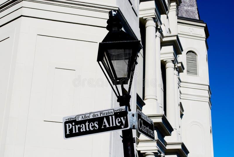 Vicolo dei pirati fotografia stock