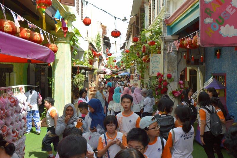 Vicolo del Concubine o Lorong Panglima fotografia stock libera da diritti