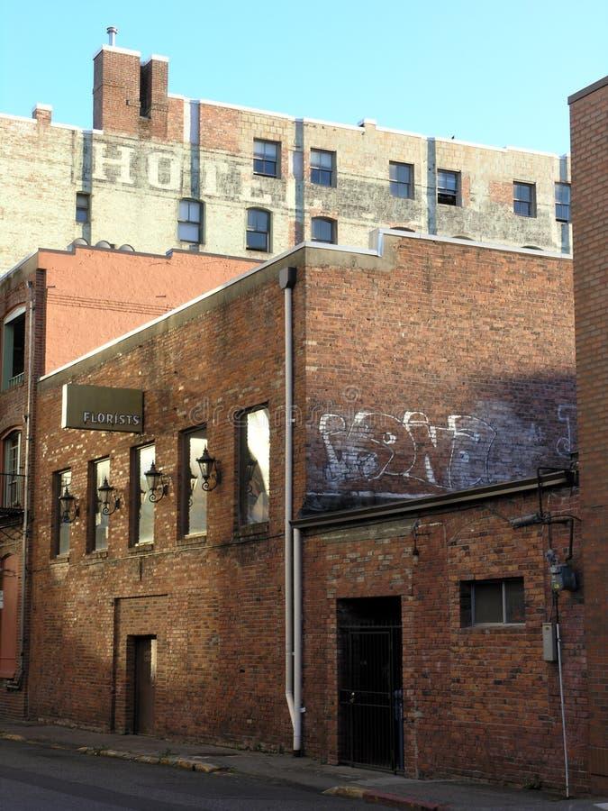 Download Vicolo del mattone immagine stock. Immagine di graffiti - 207231