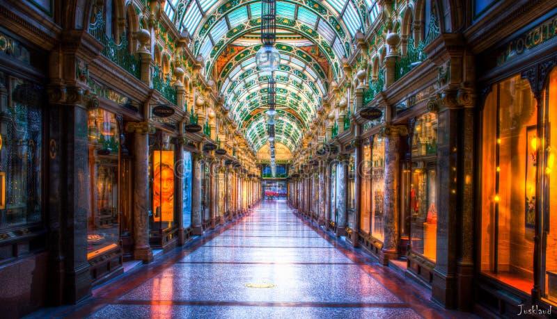 Vicolo di acquisto di Leeds HDR fotografie stock