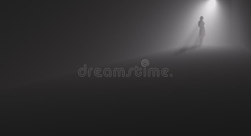 Vicolo di buio della donna illustrazione vettoriale