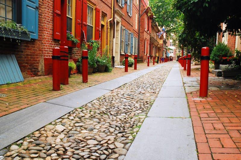 Vicolo di Elfreth, Filadelfia fotografie stock libere da diritti