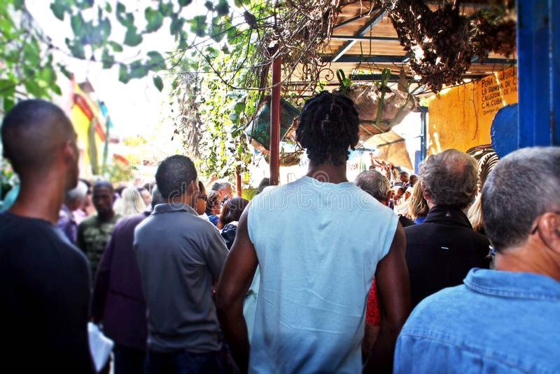 Vicolo di Hamel a Avana, Cuba immagini stock libere da diritti