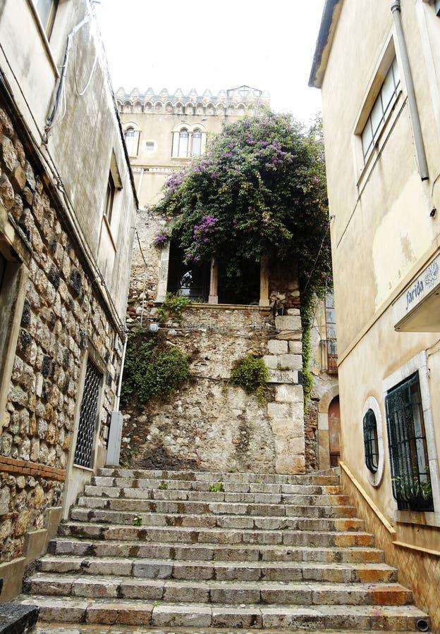 Vicolo di Taormina immagine stock libera da diritti