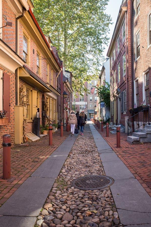Vicolo Filadelfia di Elfreths fotografia stock libera da diritti