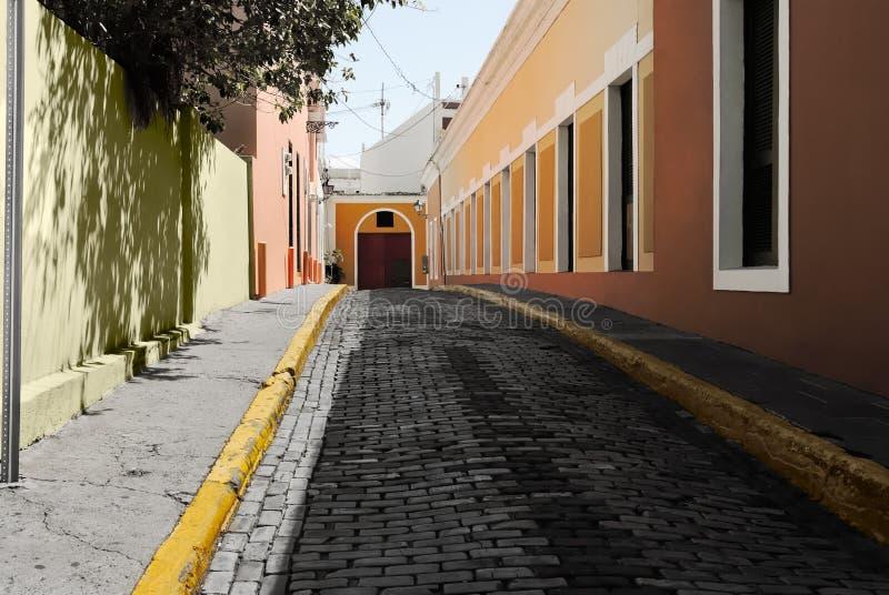 Vicolo nella vecchia città di San Juan fotografie stock