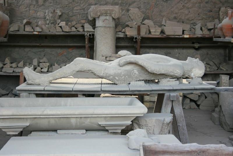 Victim of Pompeii stock photos