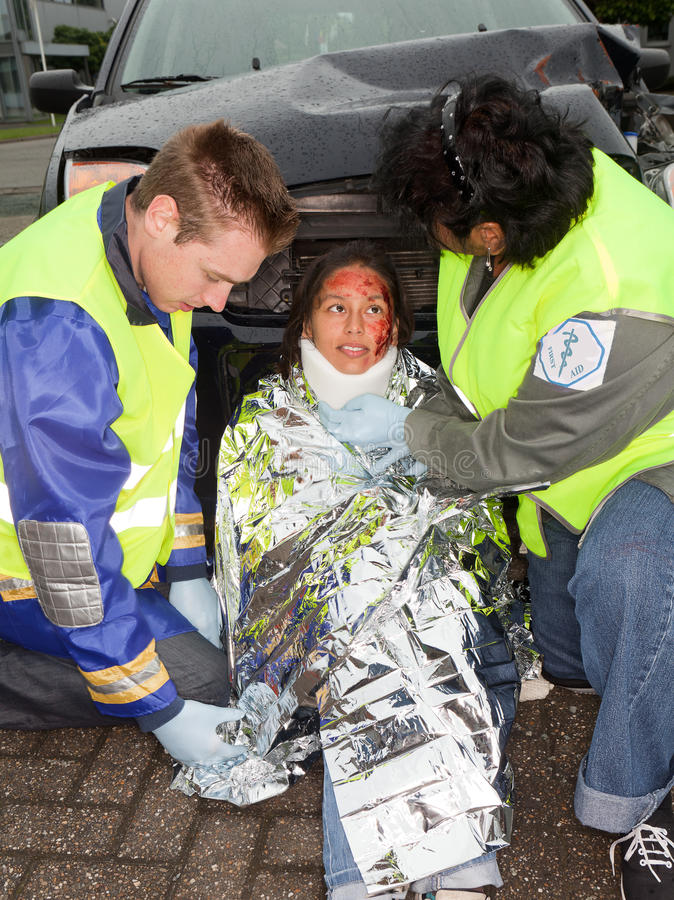 Victime d'accidents images libres de droits