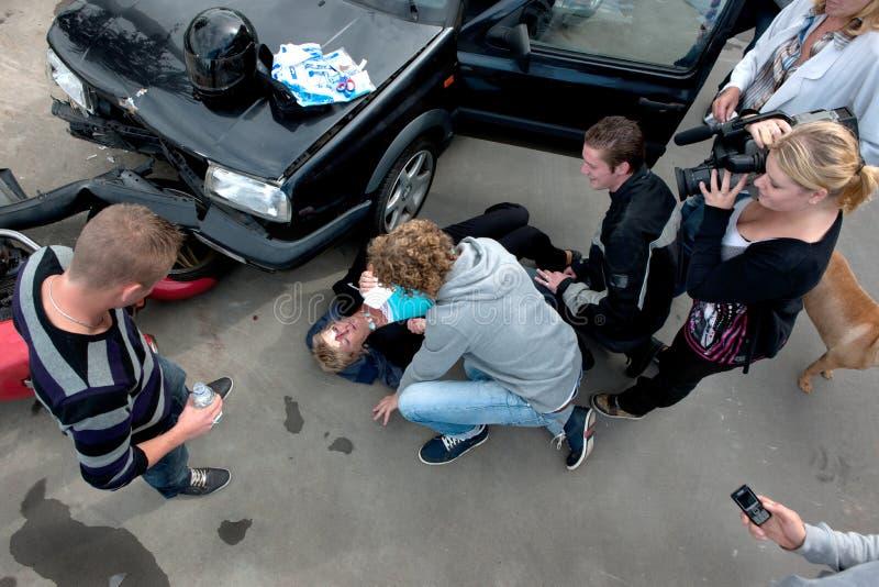 Victime de crash de véhicule photos stock
