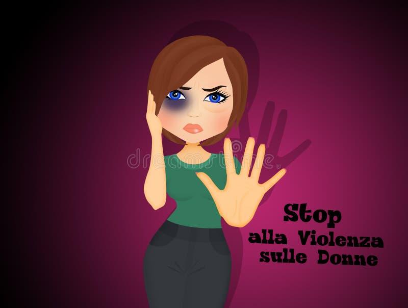 Victime de femme de violence illustration libre de droits