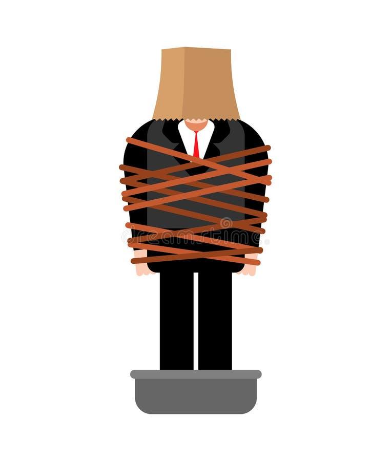 Victime de Mafia Homme attaché avec des chaussures de ciment de corde bassin avec la Co illustration libre de droits
