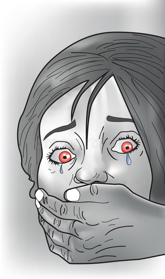 Victime de séquestration, illustration illustration de vecteur