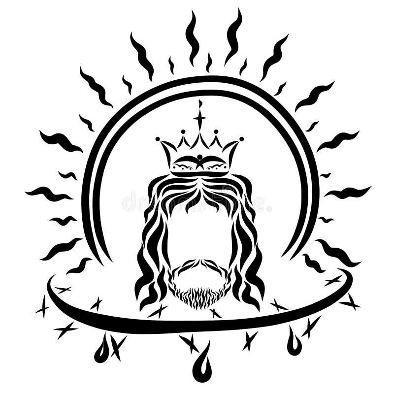Victime et victoire de Lord Jesus Christ illustration stock