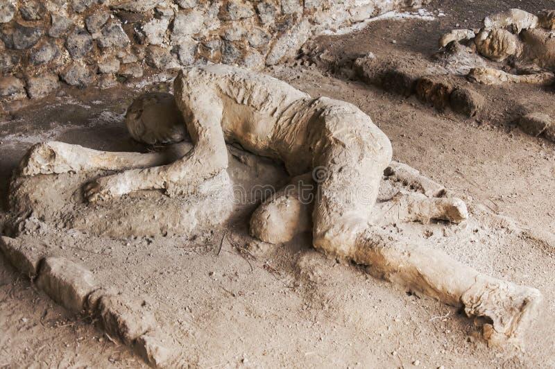Victimes de Pompeii photographie stock libre de droits