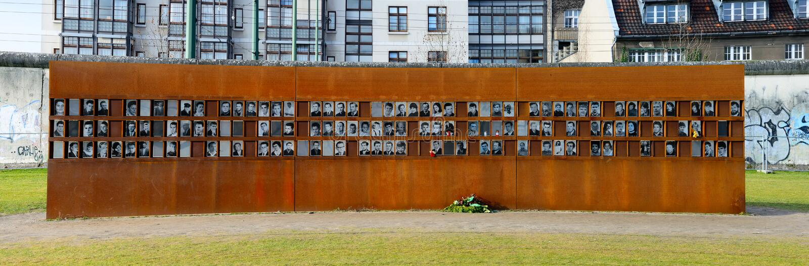 Victims of the berlin wall. Memorial on bernauer street in berlin, germany royalty free stock photos