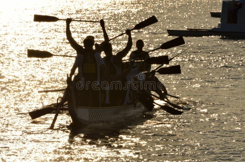 Victoire de Dragonboat photo stock