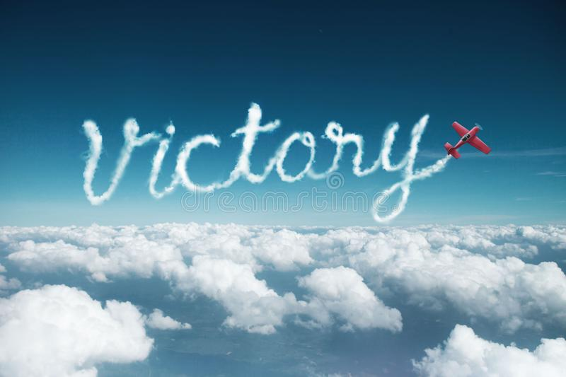 Victoire de Word faite en l'avion photos stock