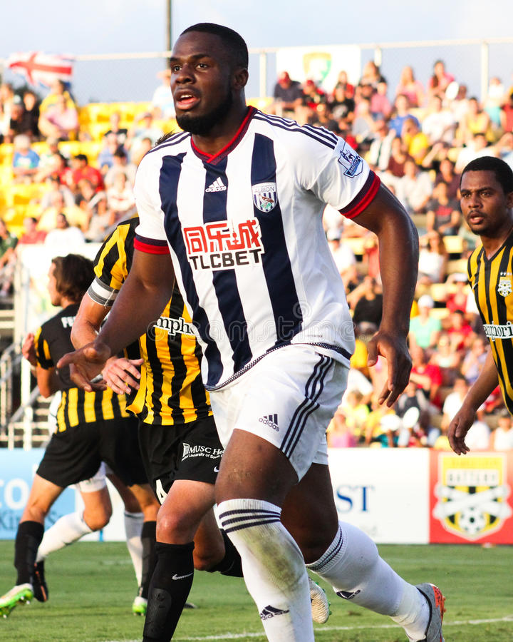 Victor Anichebe, West Bromwich Albion fotografie stock