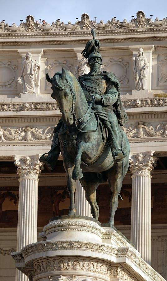 Victor Emmanuel II, Altare della Patria, Rome royaltyfri fotografi