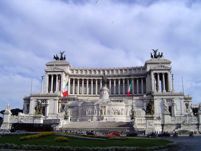 The Victor Emmanuel II Monument - Rome royalty free stock images