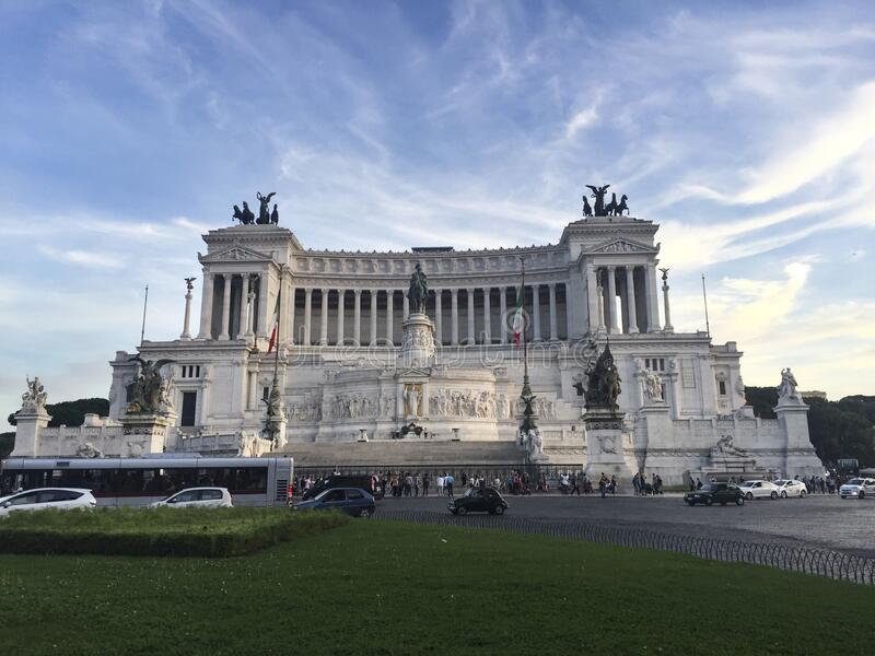 The Victor Emmanuel II National Monument or Vittoriano. Typewriter, Rome - Italy stock photos