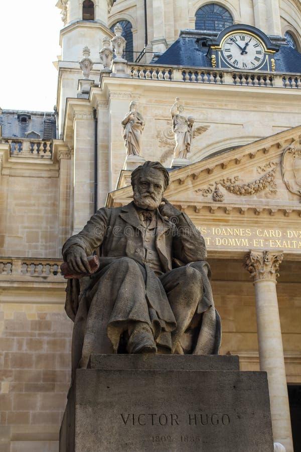 Victor Hugo monument arkivbilder