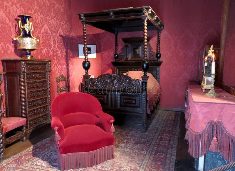 Victor Hugo Schlafzimmer stockfotografie