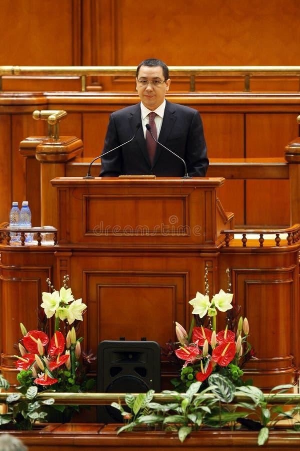 Victor Ponta στοκ φωτογραφία με δικαίωμα ελεύθερης χρήσης