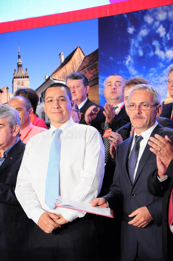 Victor Ponta and Liviu Dragnea royalty free stock photography