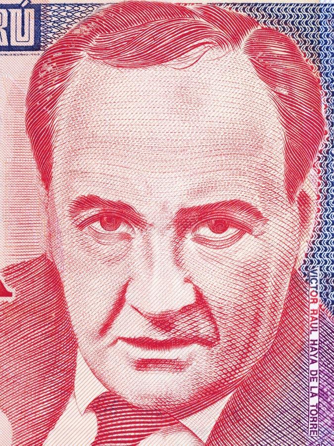 Victor Raul Haya de la Torre-Porträt lizenzfreie stockfotografie