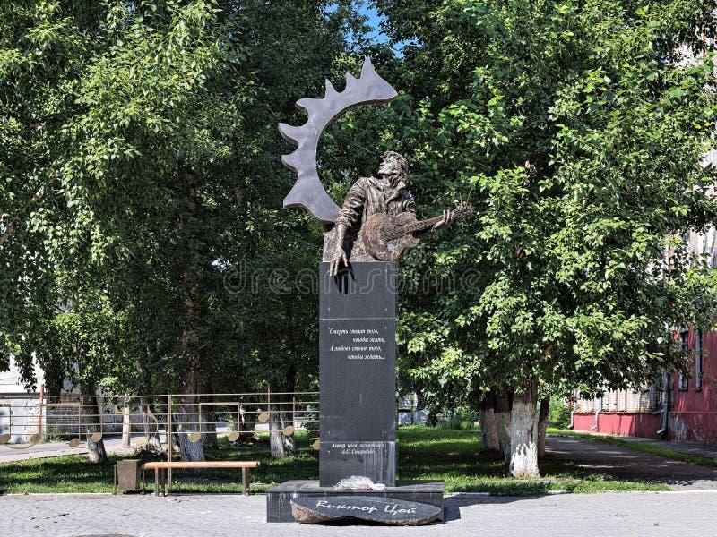 Victor Tsoi Monument in Barnaul, Russia immagine stock