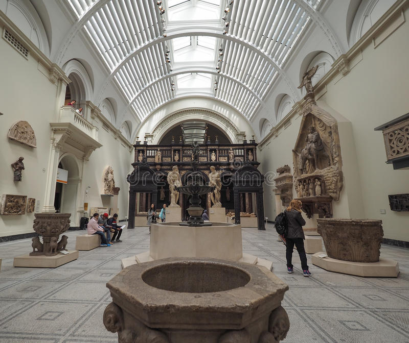 Victoria and Albert Museum in London stock photos