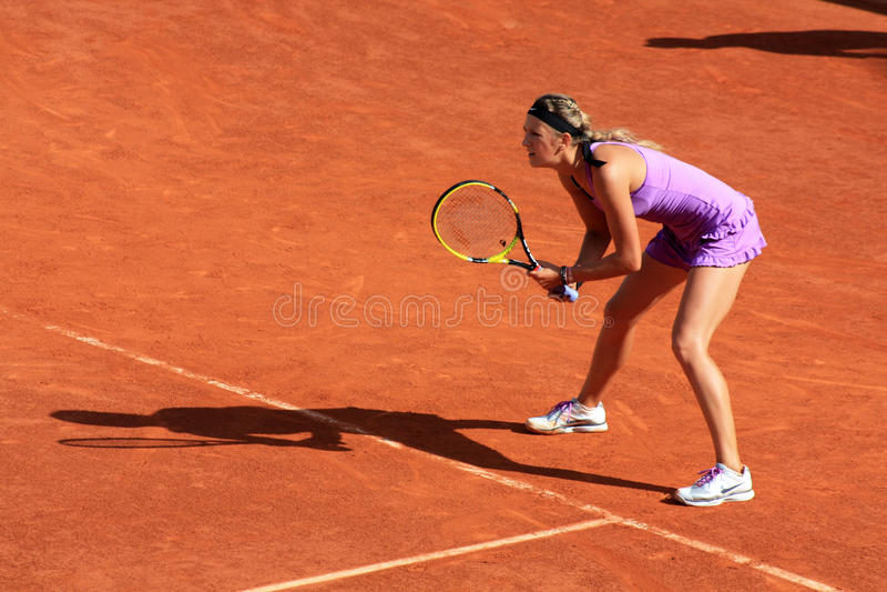 Victoria Azarenka a Roland Garros 2011 fotografia stock