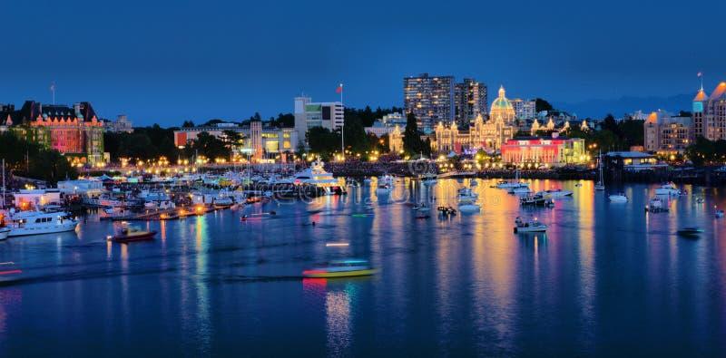 Victoria BC Canada. Beautiful night scenery of Victoria BC Canada royalty free stock photos
