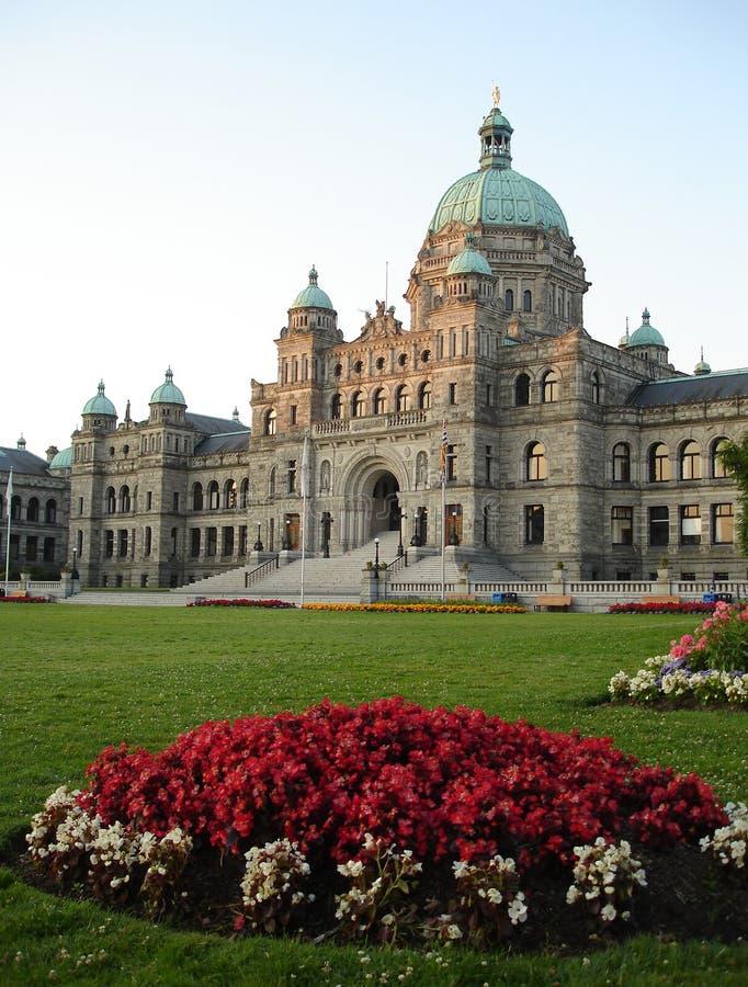 Victoria, BC, de verticaal van de Bouw van het Parlement van Canada stock foto's