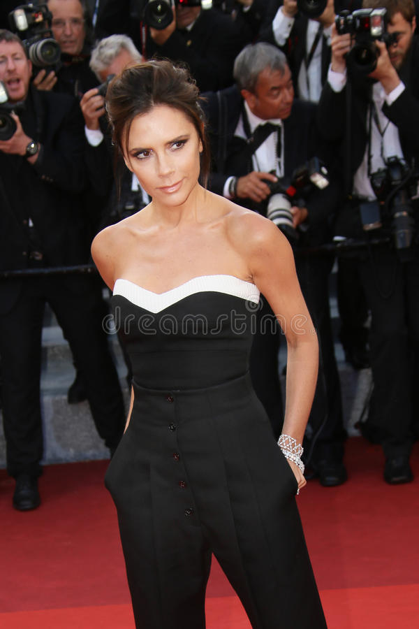 Victoria Beckham attends the `Cafe Society` stock photos