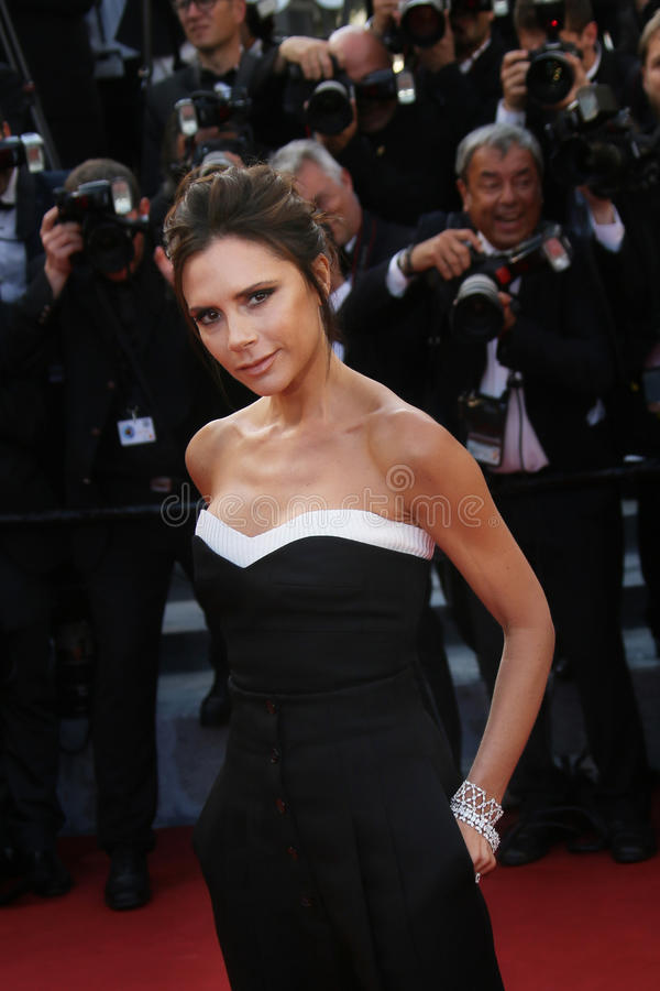 Victoria Beckham attends the `Cafe Society` royalty free stock photo